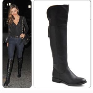 Mossimo Supply Arwan Over The Knee Black Boots 6